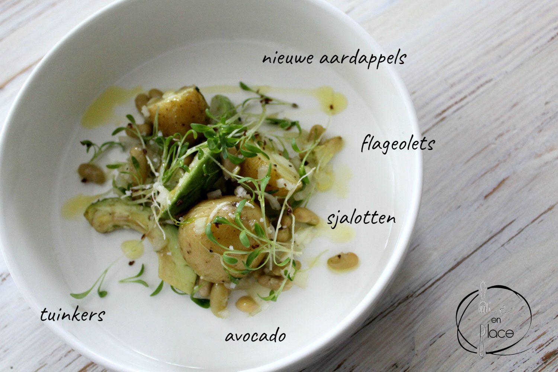 Aardappelsla en flageolets