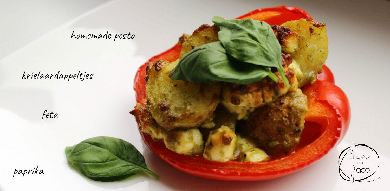 Gevulde paprika met aardappels