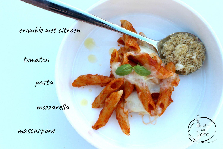 Pasta met tomaten-mascarponesaus