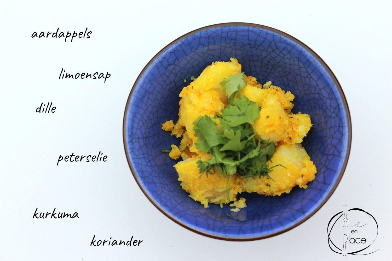 Pittige aardappelsalade