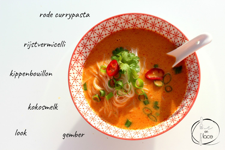 Rode currysoep met gember