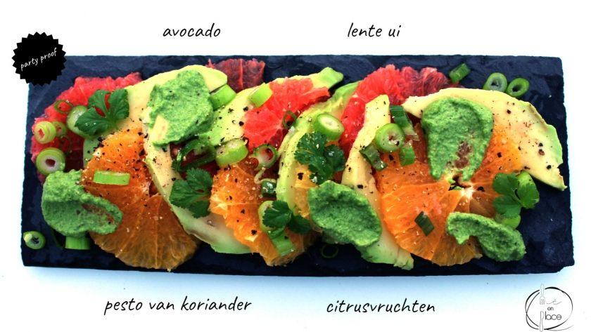 Avocado citrus salade