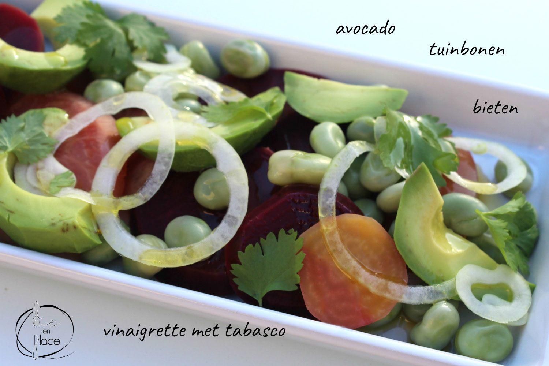 Bietensalade met avocado