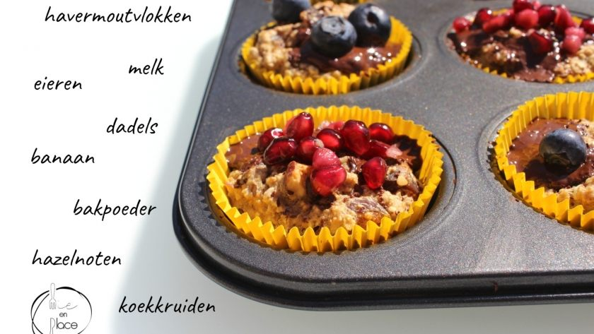 Havermout cupcakes