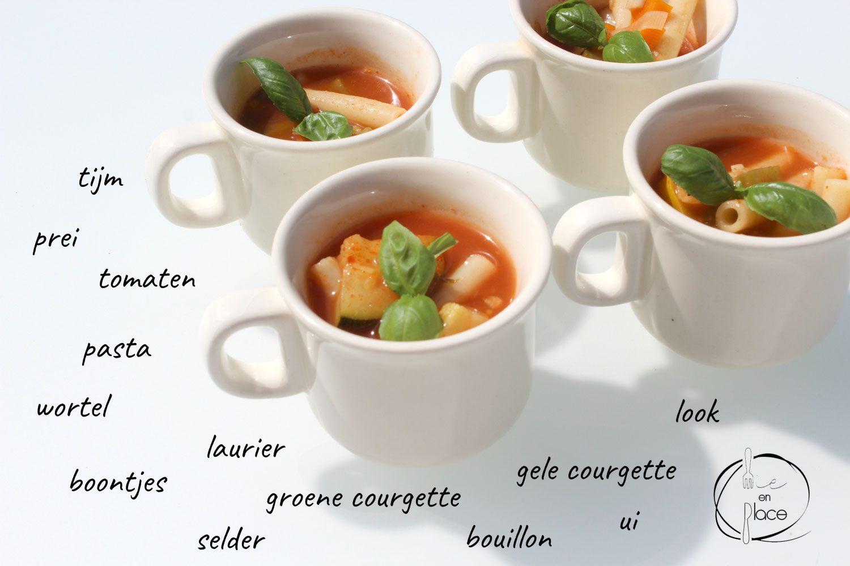Zomer minestronesoep