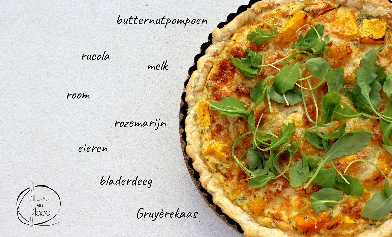 Quiche met butternut en rozemarijn