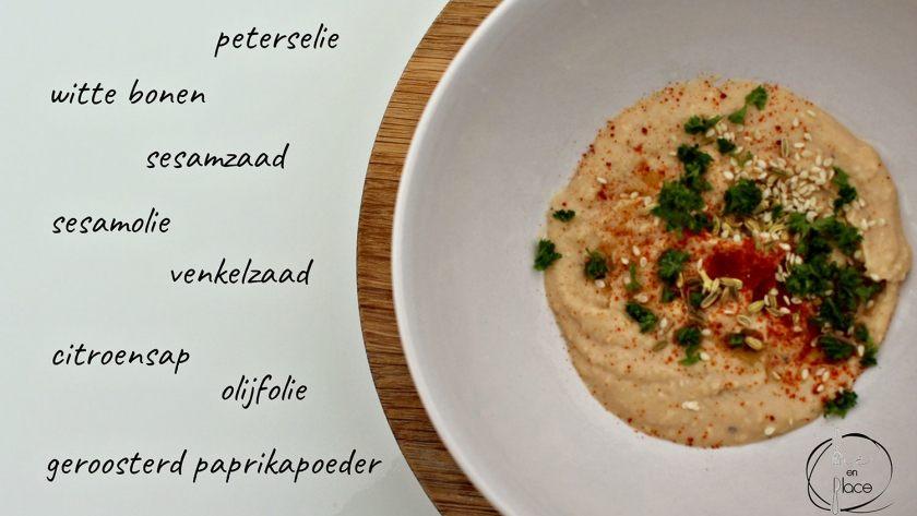 Witte bonen humus