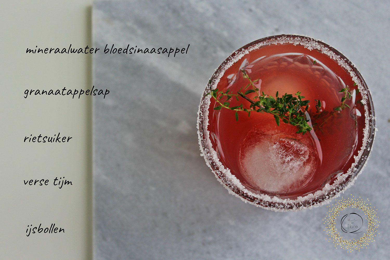 Mocktail met granaatappel