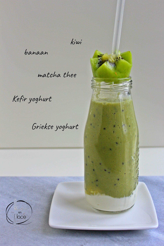 Matcha kiwi smoothie