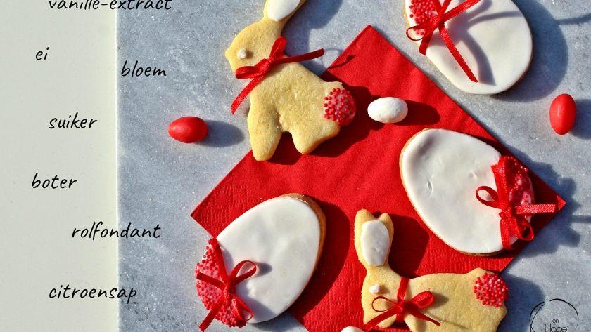 Vanillekoekjes voor Pasen