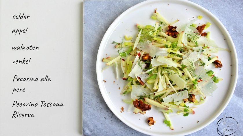 Salade met venkel en Pecorino