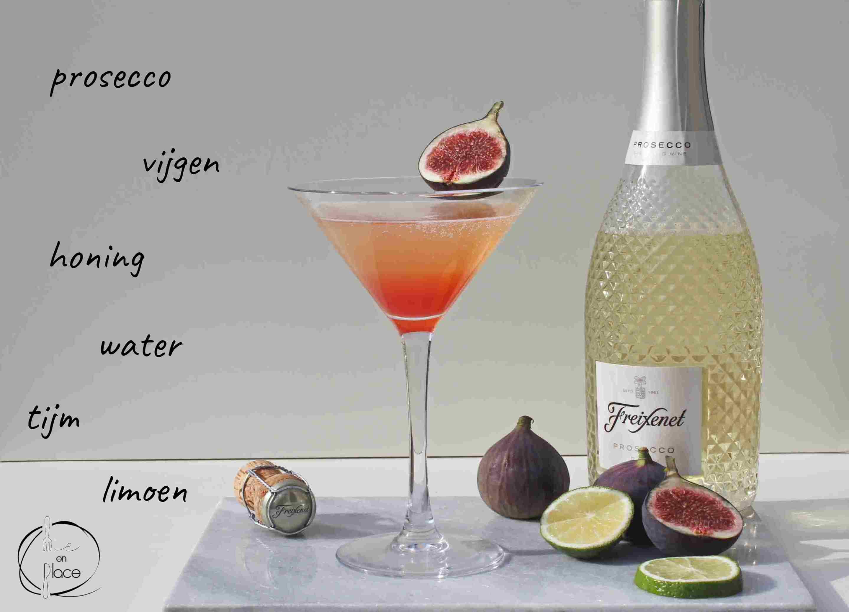 Prosecco cocktail met vijgen
