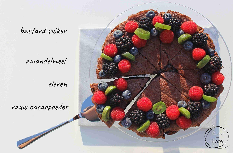 Chocoladetaart met amandelmeel