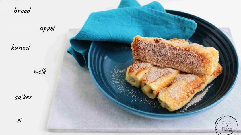 Broodrolletjes met appel