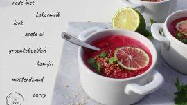 Mie en Place rode biet soep